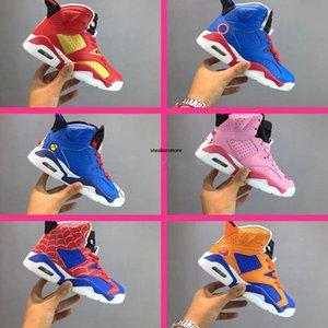 bambini 6S in pelle di serie del fumetto Mid Top bambini scarpe da basket 6s Return of Heroes Kitty bambini Athletic Shoes Altro