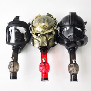 Akrilik Su Sigara Borular Su Borusu Bongs Oil Rig pipolar Nargile Bubbler Tütün Tüp ücretsiz kargo ile Silikon Gaz Predator Maskesi