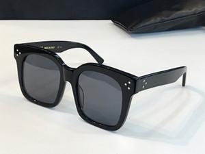 womens kare kare yeni güneş gözlüğü Basit bir atmosfer vahşi tarzı UV400 koruma mercek gözlük 41076S için 41.076 modacı güneş gözlüğü