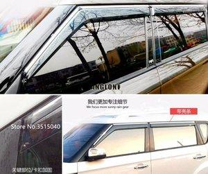 Для KIA Soul 4шт автомобиля Стайлинг двери окна Ветер Visor Molding брезентовые Щит дождь ВС Ветер Guard Vent Shade