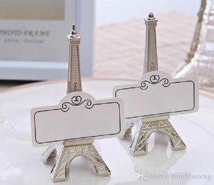 Paris Eiffel Tower place Card holder romantic scenery message folder Creative metal photo Holder Business card holder
