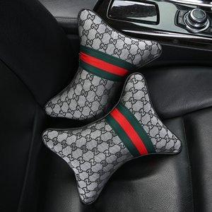 2020 Neue Autopflege 2PC-Auto-Sitz-Kopf-Hals-Rest-Kissen Kopflehnen-Kissen-Auflage-Kopfstütze Nackenkissen Sitzbezug Autozubehör