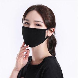 Erkek Kadın Koruyucu Ürünler İçin Siyah Pamuk Maske Klasik Moda Yüz Maskeleri Yıkanabilir Yeniden kullanılabilir toz geçirmez Kumaş Maske