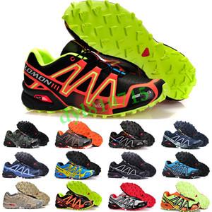 Salomon Speed Cross 3 4 2019 sıcak hız çapraz 3 CS III açık erkek Camo kırmızı siyah erkek spor sneakers eğitmenler hız Crosspeed 3 koşu ayakkabıları boyutu 40-46 SF03