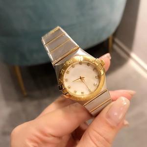 Nouveau Arrivé Mouvement Quartz de haute qualité 27mm Montre Femme Constellation cadran blanc 316 Band inoxydable International Watch