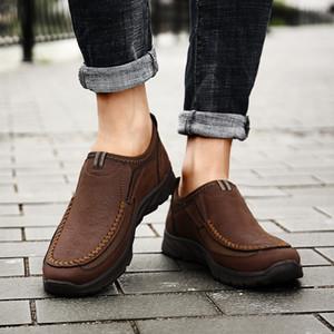Дешевые удобные повседневные мужские кожаные мокасины Пенни мокасины вождения скольжения на лодках квартиры вождения обувь для мужчин большой размер 48