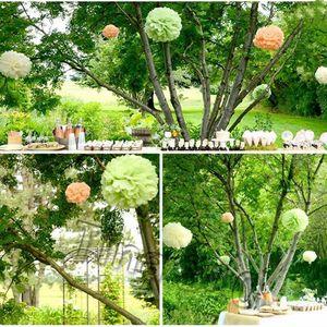 yeni renkli doku kağıt topu çiçek doku kağıt yapay çiçek düğün doğum günü Noel Anneler Günü için dekoratif çiçekler T2I5345