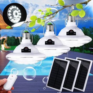 22LED Solar Power LED Lantern Outdoor Tent Camping Bulb for Hiking Fishing Emergency Lights with Solar Panel & Remote Control