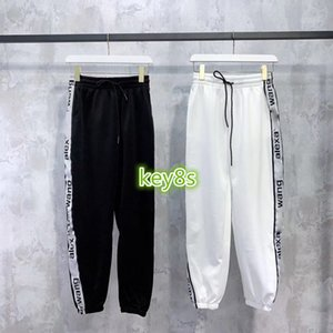 2020 high end women girls jersey jogging pants elastic waist letter ribbon printing casual leggings pants fashion design trousers