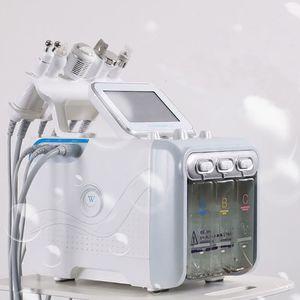 5,6,7 1 en H2-O2 martillo bio rf frío hidro spa dermoabrasión máquina de limpieza de los poros de la piel facial microdermoabrasión hidra de agua