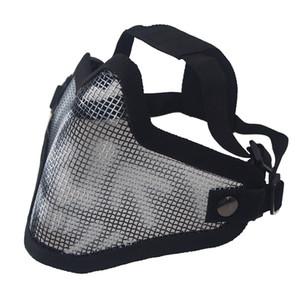 masque cycliste de vélo Tactics de protection crâne Demi-masque Masque tactique Airsoft militaire Militar grève vélo Accessoires