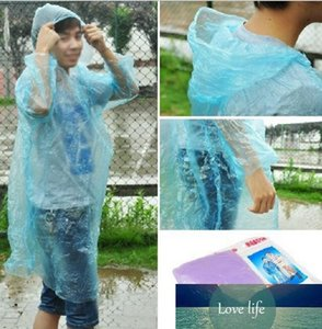 Raincoat Fashion Hot Disposable PE Raincoats Poncho Rainwear Travel Rain Coat Rain Wear Travel Rain Coat Wholesale