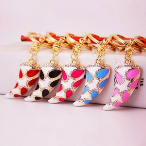 3pcs Enamel Alloy Rhinestone Pendant Key Chains Musical Instrument Keychain Girl Jewelry Ornament Charm Key Ring Accessories Party Gift