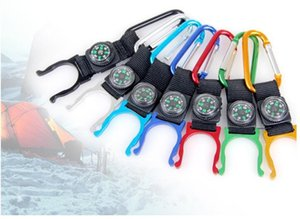 Aluminum alloy D-type Water Bottle Clamp Portable mineral water bottle buckle three in one Compass buckle