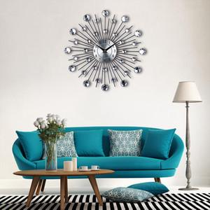 New Design Vintage Metallkunst Wanduhr Luxuxdiamanten große Wand beobachten Orologio Da Parete Uhr Mordens Design-Wohnkultur Wandklok