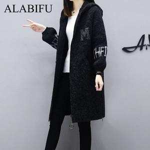 ALABIFU Winter Plus Größe Frauen Furry-Mantel-lange Sleeved Knopf Female Warm Mantel Mode weichen Frauen-langer Mantel 2019