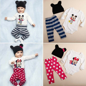 2020 Новой мода Baby Boy Одежда Set (Ползунки + Hat + брюки) для новорожденного Новорожденных ребёнок Одежды Костюм Roupas De Bebe Комбинезон