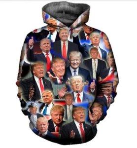 Date Mode Femmes / Hommes Donald Trump Drôle 3d Imprimé Casual Hoodies De Poche Sweat Top Livraison Gratuite R0264