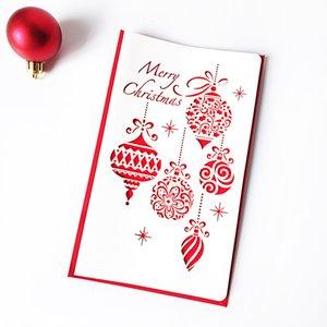 Aushöhlen Grußkarte des neuen Jahres Weihnachtsglückwunschkarten Deer kleine Glocke Gift Holiday Party Supplies 0 85yf UU