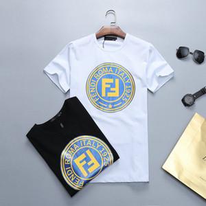 19ss ترف أوروبا باريس 3d الطباعة الزى أزياء رجالي مصمم تي شيرت عارضة الرجال الملابس القطنية تي M-3XL b2