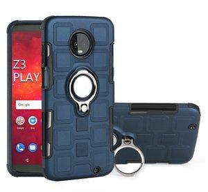 Pour Motorola G8 Ice Cube Finger Slim Case hybride Anneau Armure couverture arrière 2 en 1 Protecteur pour Moto G8 G7 G6 G5 G4 Jouer E6 E5 Plus One C