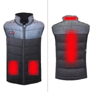 Winter USB Heating Vest Men Double Switch Electric Heated Vest Jacket for Outdoor Camping Fishing Warm L Outdoor T-Shirts
