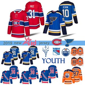 youth St. Louis Blues  New York Rangers  Montreal Canadiens  Edmonton OilersPlayers jersey 31 Carey Price 97 Connor McDavid Hockey Jerseys