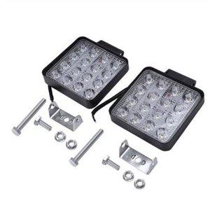 Hot 2 pezzi 48W 6000k LED Spot Travi Luci del lavoro lampada del trattore SUV del camion 4WD 12V 24V 3120lum quadrati Faretti a LED