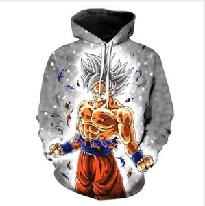 Neue Art und Weise Dragon Ball Z Goku Crewneck Sweatshirts Frauen / Männer beiläufige Hoodies Lustige 3D-Druck-Pullover RA045