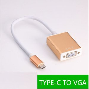 USB 3.1 Type C USB-Cale Male to Female VGA Adapter Cable Converter for Macbook PC Laptop Converter Cable