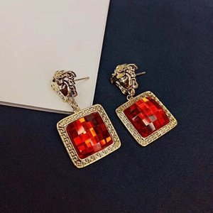 Joyería de moda diamante de las mujeres pendientes de las mujeres de la calle elegante de Bohemia cuelga los pendientes de Europa Femenina INS estilo de la moda