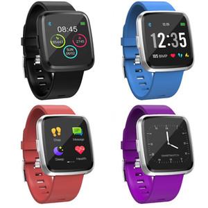 Y7 Aggiornamento Y7P intelligente Braccialetto Bluetooth 1.3 pollici full touch screen Pressione Smartwatch frequenza cardiaca Sangue fitness vs Fitbit Versa 2