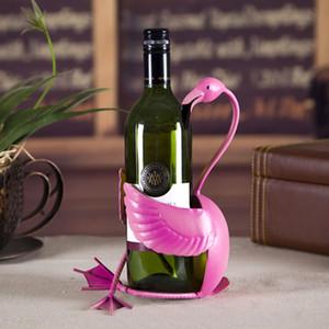 Flamingo Wine Rack Red Wine Bottle Holder Shelf Metal Sculpture Wine Stand Home Decoration Storage shelves Ornament Crafts Christmas Gift