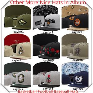 Nouveaux chapeaux Snapback Cap Cayler Sons Snap back Baseball football basketball personnalisé Casquettes réglables Taille de livraison Livraison à partir d'album Chapeaux