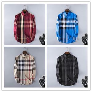 Marka erkek Iş Rahat gömlek erkek uzun kollu çizgili slim fit camisa masculina sosyal erkek T-Shirt yeni moda adam kontrol gömlek # C26