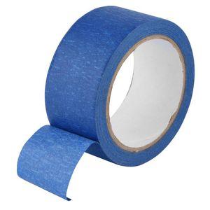 48mm x 30M resistente cinta adhesiva azul enmascaramiento de calor Papel Crepe Para Impresora 3D trazable, etiquetas grabable Ropa