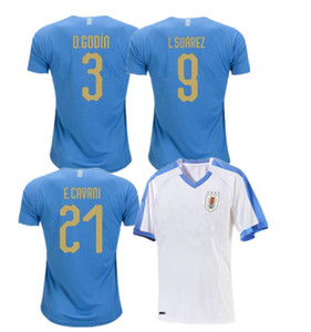 2019 Copa America Uruguay Soccer Jersey 19 20 Home #9 L.suarez #21 E.cavani Soccer Shirt Away National Team Football Uniforms