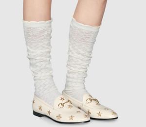 Gros Jordaan Chaussures en cuir Chaussures en cuir de vache Horsebit Femme Broderie Etoiles plat Laday Lethal Mocassins à semelle