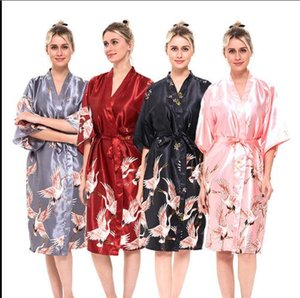 Womens Long Bridesmaid 신부 드레스 가운 명예의 하녀 인쇄 드레스 잠옷 Sleepwear Silk Pajamas 섹시한 가정용 플러스 사이즈 M-XXXL