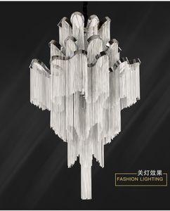 Progetto Impero Francese Modern Chandelier Light Fixture Luster catena appesa luminaria lampada Lampade Sospensione catena del pendente di trasporto della lampada
