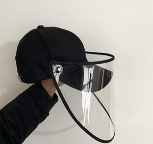 Schutzkappe Maske Augenschutz Baseballmütze Unisex Removable Öl-Splash Proof Anti-Speichel Gesicht Cover Black Cap Mask