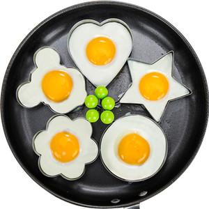 Moule Egg Fried en acier inoxydable Star Heart Shaper Pancake Moule Creative Flower Friture Egg Mold cuisine cuisson outil de cuisson DBC VT0342