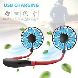Mini USB Portable Fan Neck Fan Neckband With Rechargeable Battery Small Desk Fans handheld Air Cooler Conditioner for office