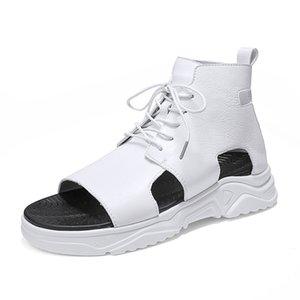 Новые летние Casual High Top Сандалии для мужчин Мода Удобная обувь Сандал Нескользящая квартира Обувь Zapatos Hombre Dropshipping
