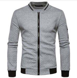 Fermuar Yaka Hoodie Ceket Erkek Bombacı Ceket Tasarımcı Tişörtü Renk Spor Moda Palto Erkek Dış Giyim Streetwear Harika Contrast