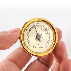 Mini-cigare hygromètre ronde détecteur d'humidité en forme plastique hygromètres pour guitare Tabac Piano Accessoires Boîte de classement mécanique de précision