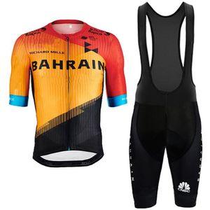 2020 BAHRAIN PRO TEAM SHORT SLEEVE задействуя Джерси ЛЕТО велоодежда ROPA Ciclismo + BIB SHORTS 3D GEL PAD SET SIZE: XS-4XL