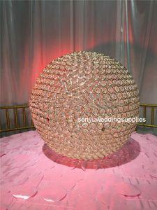40cm 50cm diameter ) New crystal walkway stand wedding aisle decorations pillar for weddings decor senyu0222