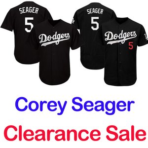 Corey Seager Los Angeles Maillot Blanc Bleu Gris Noir Flex Cool Base base 2019 Clearance Sale Base-ball Maillots