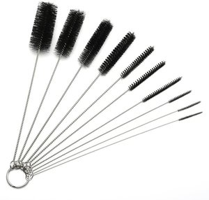 10pc beaucoup le narguilé tuyau Brosse potable nettoyage Straw Cleaner Brosse verre Bong Brosse